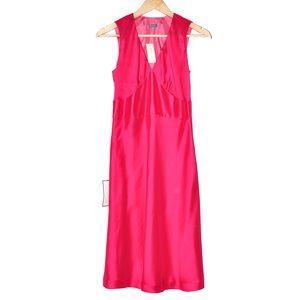 NWT Ann Taylor   100% Silk Hot Pink Dress